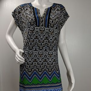 Laundry by Shelli Segal stretch vneck dress sz XS